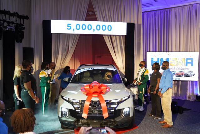 현대자동차, 미국 앨라배마 공장서 누적생산 500만 대 달성