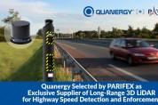 파리펙스, 고속도로 속도 감지 및 단속용 장거리 3D 라이다 독점 공급업체로 쿼너지 선정