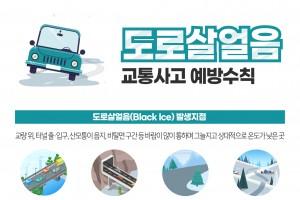 도로살얼음 주의! 겨울비 치사율 37.1% 증가